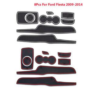 8PCS Non-Slip Interior Door Gate Slot Pad Panel Cup Mat For Ford Fiesta 09-2014
