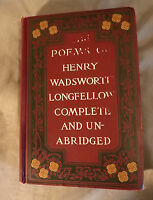 The Poems of Henry Wadsworth Longfellow Complete Unabridged 1891 Antique Grosset