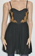 Ally Designer Black Baroque Beaed Detail Dress Size 10 BNWT #su49