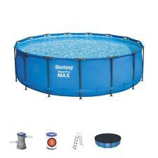 15FT piscina Bestway Redonda Jardín 457cm X 107cm Acero Pro Max
