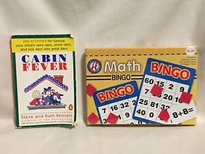 A+ Math Bingo Kids Learning Game NIB & Cabin Fever 202 Child's Activities Book