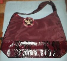 Uptown Tote- Burgandy and Snake Skin Tote Bag *BW-A2-2