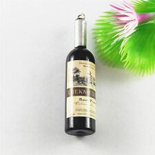 20pcs Black Color Red Wine Bottle Shaped Resin Pendant Charms Jewelry Findings