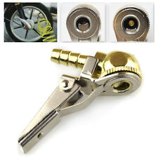 Ball Tire Air Chuck with Valve Stem Lock On Clip Tyre Inflator Brass Fitting