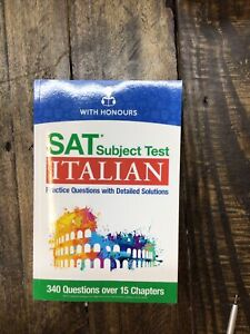 SAT* Subject Test Italian: Practice Questions Wit Detailed Solutions - Paperback