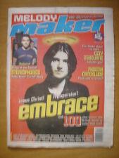 MELODY MAKER 1998 JUN 20 EMBRACE OZZY OSBOURNE SHED 7