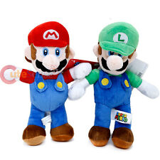 "Nintendo Super Mario Luigi Plush Doll 12"" Soft Stuffed Toy 2pc set"