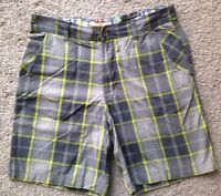 lululemon Size 34 Gray Checked Shorts - Summer Yellow Accents