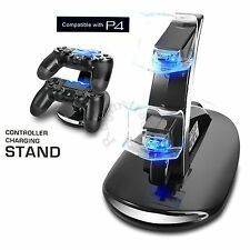 Fast Charger Dock Station Dual USB Charging Stand for PlayStation PS4 Controller