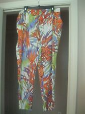 NWT ALLEN B MULTICOLOR LT WEIGHT DRAWSTRING SWIMSUIT COVER UP/LOUNGE PANTS SZ 16