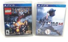 Lot of 2 Sony Playstation 3 PS3 Games: Lego Hobbit and MLB 14 The Show NEW