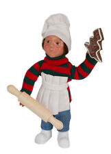 Byers Choice Toddler Boy Chef Cook w/Rolling Pin MINT NEW STORE STOCK'18 Cute!