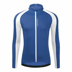 Mens Bike Cycling Long Sleeve Jersey Bicycle Tops Maillots Shirt Jerseys Coat