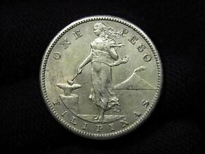 1909-S Philippines Peso NICE COIN