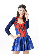 NWT Women's Spider-Girl Dress Costume OS Super Hero Spider-Man Cosplay Halloween