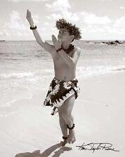 "Kim Taylor Reece ""Mauka"" 11 X 14 Double Matted Hawaiian Hula Print - New"