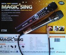 13 MAGIC SING ET25K karaoke 2000 Spanish English Songs Bag Binder Microphone Mic