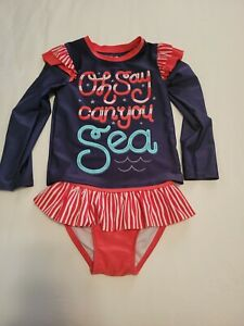 Cat & Jack Toddler Girl 2 Piece Swimsuits 5t