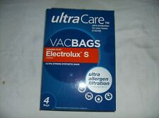 Electrolux S canister VacBags  UltraCare Allergen Filtration 4 pack Box NEW