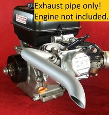 Mini Bike custom Exhaust Header Pipe for Predator 212cc Flat Aluminum CERAMIC.