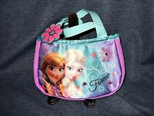 Rare Official Disney Frozen Sisters Forever Colorful Glitter Hand Bag Purse NWOT