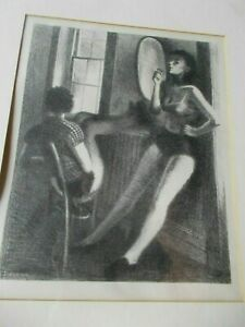 Great C.1936 Raphael Soyer Original Limited Edition Lithograph