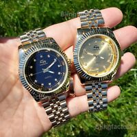 Men's Gold plated Luxury Designer Style Metal Band Dress Wrist Watch