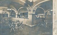 NEW YORK CITY – Hotel Belmont Café Real Photo Postcard rppc – udb – mailed 1909