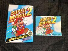 Super Mario Bros 2: NES Nintendo Box and Manual Only