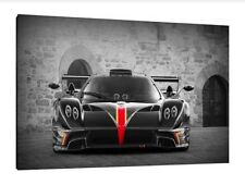 Pagani Zonda Revolution - 30x20 Inch Canvas - Framed Picture Print Wall Art