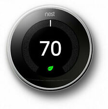 Nest T3019US Programmable Thermostat Polish Steel