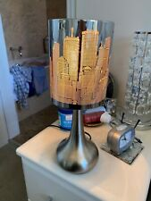 Pair Of Touch New York Skyline Cut Out Design Table Lamps