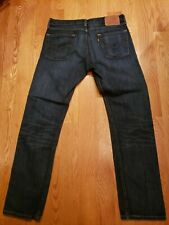 Excellent Condition Levis 513 Straight Jeans Darkwash Blue Sz 33x32