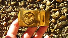 WW2 USMC EGA Brass Belt Buckle US Marine Corps Military Uniform