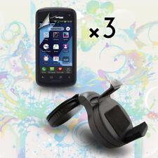 360??  Car Mount Holder + Screen Protector For Verizon Pantech Marauder ADR910L
