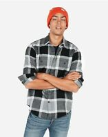 Express Mens Long Sleeve With Button Cuffs Flannel Shirt SZ Small