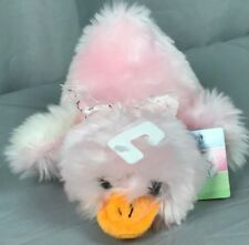 "Walmart Sm Easter 9"" Duck Platypus laying Pink Orange White Stuffed Animal Plush"