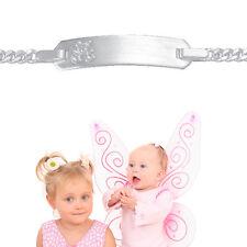 Baby Kinder Taufe Teddy Bär Armband Bärchen mit Namen Gravur Echt Silber 925 Neu