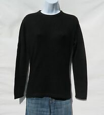 """100% Cashmere Sweater A+ Softer Knit Ladies """"Crew Neck"""" Himalayan Black Size: L"""
