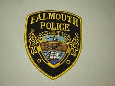 Falmouth Police Suckanesset Massachusetts Shield Shape Iron On Shoulder Patch