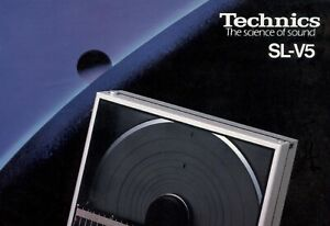 Paper COPY of the rare 2-page brochure for vintage Technics SL-V5 turntables