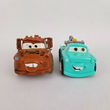 Disney Pixar Cars Tow Mater Truck and Shake N Go Tow Mater Alt Blue Green Color