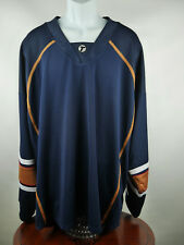 NEW NWT Edmonton Oilers Authentic Blank Jersey with fight strap Size 54 B9