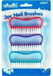nail Brush For Manicure & Pedicure Scrubbing Cleaning Bristles Side Free Post