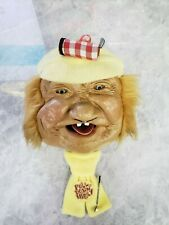 VINTAGE PETER FIGUREN BIBI PRODUCTS LAFFUN HEAD GOLFER.