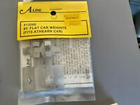 HO Scale A-Line #13200 - 85' Flat Car End Weight Set For Athearn Cars
