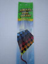 "Fun Kite ""Rainbow Checkered Toy Kite"" - Free Shipping - U.S.A. Seller ~L@K~"