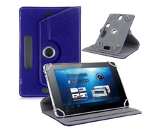 "Red 360 Folio Leather Case Cover For Universal Android Tablet PC 7"" 8"" 9"" 10"""