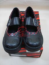 TUK Black Kitty Cat Red Dot Creeper Sneaker womens 8 new in box