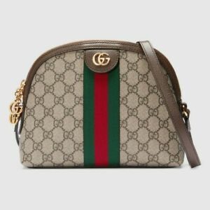 New GUCCI Ophidia Shoulder Bag PVC Leather Authentic